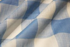 "1"" Gingham Batiste/Voile - Dusty Blue"