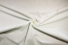 "1/16"" Tone-on-Tone Gingham Cotton - White"