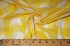 "1"" Gingham Batiste/Voile - Yellow"