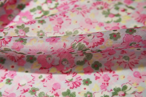 Pink Floral Cotton Gauze