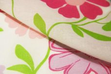 Large Pink & Purple Floral Voile