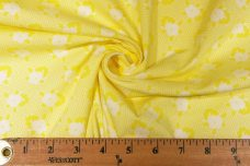 Lemon 1930's Inspired Floral Cotton Twill