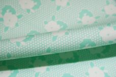 Mint 1930's Inspired Floral Cotton Twill