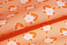 Carrot 1930's Inspired Floral Cotton Twill
