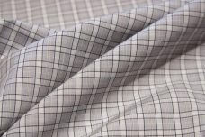 Small Silver Window Pane Plaid Poplin