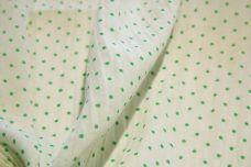 Light Green Pindot Batiste