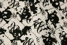 R&R Skulls Lightweight Cotton/Poly Muslin - Black