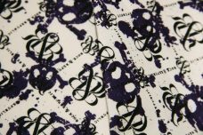 R&R Skulls Lightweight Cotton/Poly Muslin - Purple