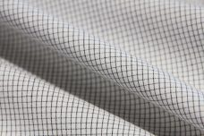Black & White Micro Windowpane Poplin