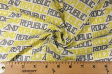 "Lime ""Rock & Republic"" Lightweight Cotton/Poly Muslin"