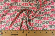 "Neon Pink ""Rock & Republic"" Lightweight Cotton/Poly Muslin"