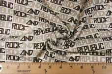 "Espresso ""Rock & Republic"" Lightweight Cotton/Poly Muslin"