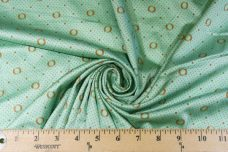 Retro Inspired Mint Polkadot Polished Cotton