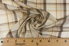Brown & Tan Large Plaid Batiste