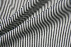 Micro Stripe Chambray - Charcoal & White