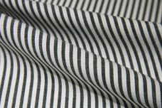 Small Stripe Chambray - Charcoal & White