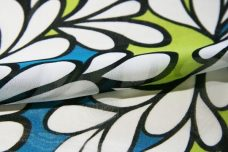 Teal & Lime Floral Chiffon