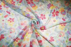Large Periwinkle Floral Chiffon
