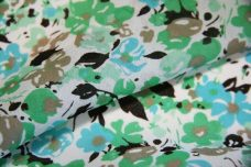Turquoise Floral Chiffon