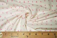 White Cotton Dimity with Light Pink Dotted Swiss